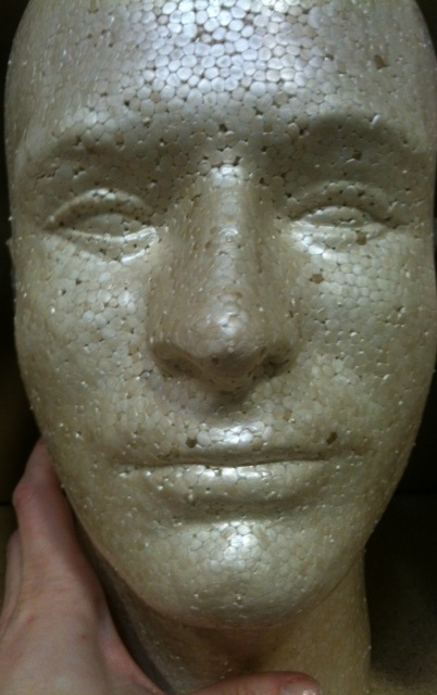 Lot 8 Styrofoam Foam Mannequin Heads Male Head Display Halloween Props
