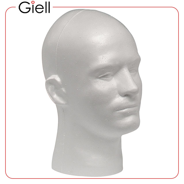 Giell Styrofoam Foam Mannequin Wig Head Display Male